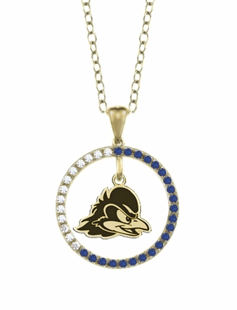 Delaware Blue Hens Sapphire and Diamond Necklace