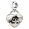 Delaware Engraved Heart Dangle Charm