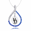 Delaware Fightin' Blue Hens Blue CZ Figure 8 Necklace