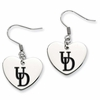 Delaware Fightin' Blue Hens Heart Earrings