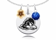 Delaware Fightin' Blue Hens Necklace with Flower Charm