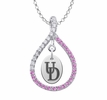 Delaware Fightin' Blue Hens Pink CZ Figure 8 Necklace