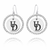 Delaware Fightin' Blue Hens White CZ Circle Earrings