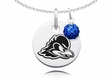 Delaware Fighting Blue Hens Necklace with Crystal Ball Accent