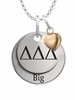 Delta Delta Delta BIG Necklace with Heart Accent