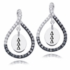Delta Delta Delta Black and White Figure 8 Earrings
