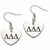 Delta Delta Delta Heart Drop Earrings