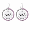 Delta Delta Delta Pink CZ Circle Earrings