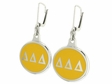 Delta Delta Delta Silver Earrings