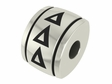 Delta Delta Delta Sorority Barrel Bead