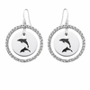 Delta Delta Delta White CZ Circle Earrings