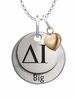 Delta Gamma BIG Necklace with Heart Accent