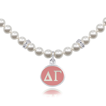 84df4edd542d5 Wholesale Delta Gamma Sorority Jewelry and Swarovski Pearl Necklace ...