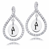 Delta Gamma White CZ Figure 8 Earrings