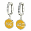 Delta Phi Epsilon Hoop Earrings
