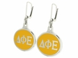 Delta Phi Epsilon Silver Earrings