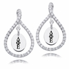 Delta Phi Epsilon White CZ Figure 8 Earrings