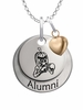 Delta State Statesmen Alumni Necklace with Heart Accent