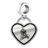 Delta State Statesmen Border Heart Dangle Charm