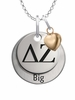 Delta Zeta BIG Necklace with Heart Accent