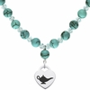 Delta Zeta Heart and Turquoise Necklace