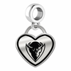 DePaul Blue Demons Border Heart Dangle Charm