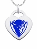 DePaul Blue Demons Color Logo Heart Charm