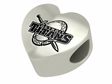 Detroit Mercy Titans Heart Shape Bead
