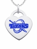 Detroit Mercy Titans Logo Heart Pendant With Color