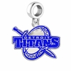 Detroit Mercy Titans Silver Logo and School Color Drop Charm