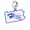 Drexel Dragons Logo Dangle Charm