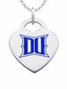 Drexel Dragons Logo Heart Pendant With Color