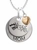 Drexel Dragons MOM Necklace with Heart Charm