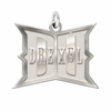 Drexel Dragons Sterling Silver Natural Finish Charm