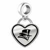 Duquesne Dukes Border Heart Dangle Charm