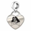 East Carolina Engraved Heart Dangle Charm