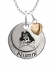 East Carolina Pirates Alumni Necklace with Heart Accent