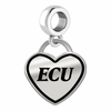 East Carolina Pirates Border Heart Dangle Charm