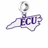 East Carolina Pirates Logo Dangle Charm