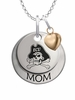East Carolina Pirates MOM Necklace with Heart Charm