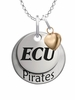 East Carolina Pirates with Heart Accent