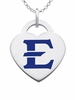 East Tennessee State Buccaneers Logo Heart Pendant With Color