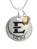 East Tennessee State Buccaneers MOM Necklace with Heart Charm