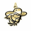 Eastern Kentucky Colonels 14KT Gold Charm