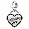 Eastern Kentucky Colonels Border Heart Dangle Charm
