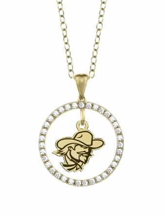 Eastern Kentucky Colonels Gold and Diamond Circle Pendant