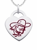 Eastern Kentucky Colonels Logo Heart Pendant With Color