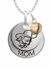 Eastern Kentucky Colonels MOM Necklace with Heart Charm