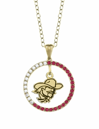 Eastern Kentucky Colonels Ruby and Diamond Necklace