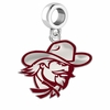 Eastern Kentucky Colonials Silver Logo and School Color Drop Charm